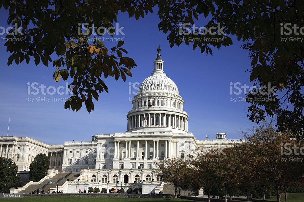 US Capitol in Washington DC royalty-free stock photo