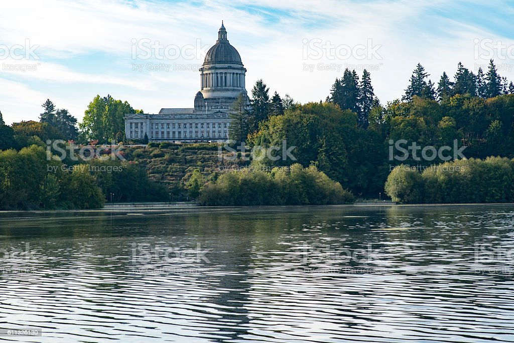 Capitol Lake Olympia, Washington stock photo