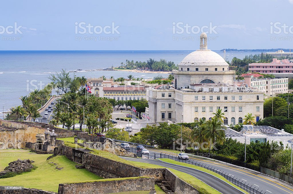 Capitol of Puerto Rico in San Juan royalty-free stock photo