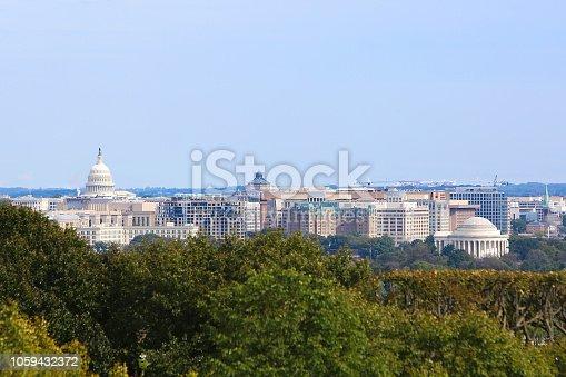Washington DC Skyline from Arlington VA