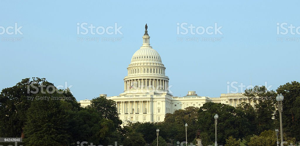 US Capitol panoramic royalty-free stock photo
