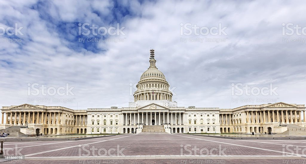 US Capitol panoramic view royalty-free stock photo