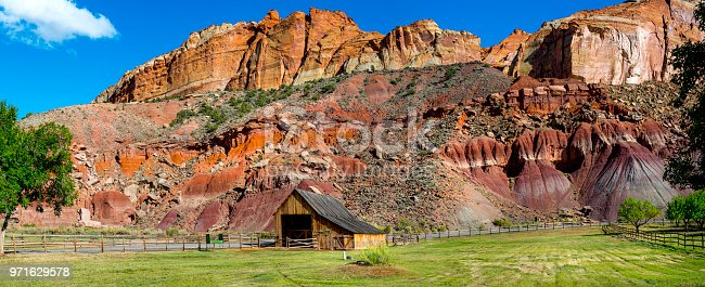 Capitol Reef National Park with a barn