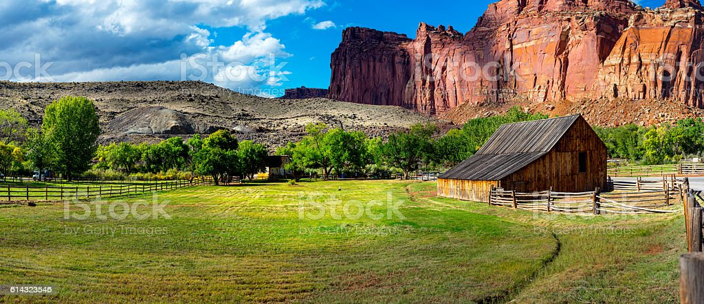 Capitol Reef National Park Panorama stock photo