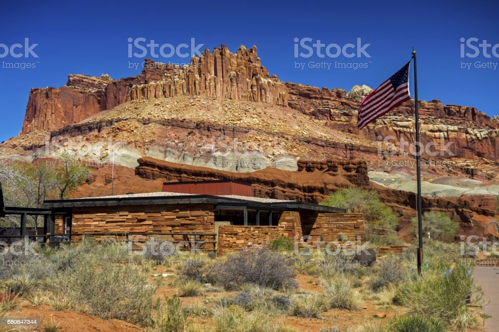 Capitol Reef National Park Visitor Center in Utah, United States stock photo