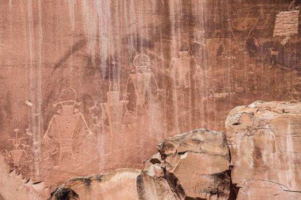 Capitol Reef Petroglyphs stock photo