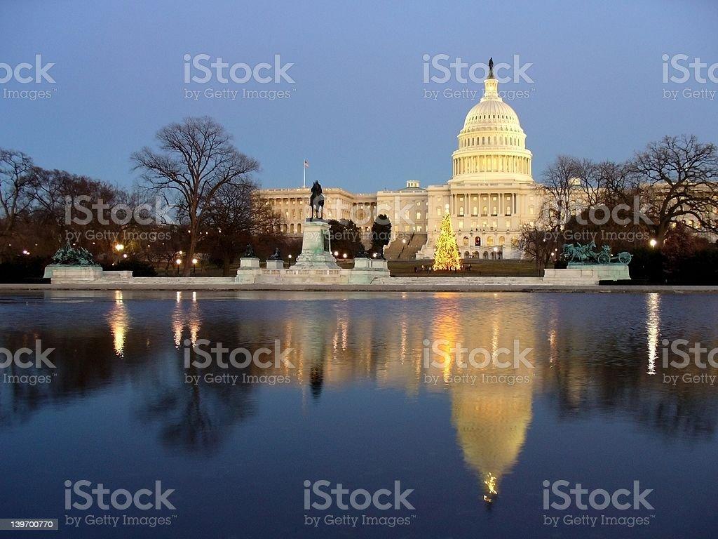 Capitol Reflection royalty-free stock photo