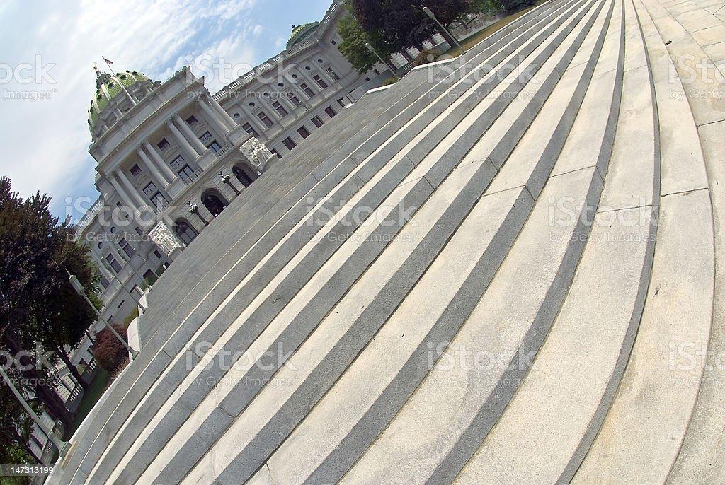 Capitol Steps in Harrisburg Pennsylvania stock photo
