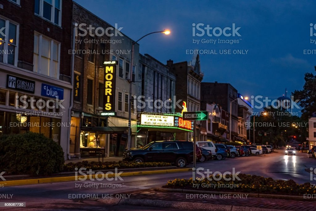 Capitol Theater in downtown Bowling Green stock photo