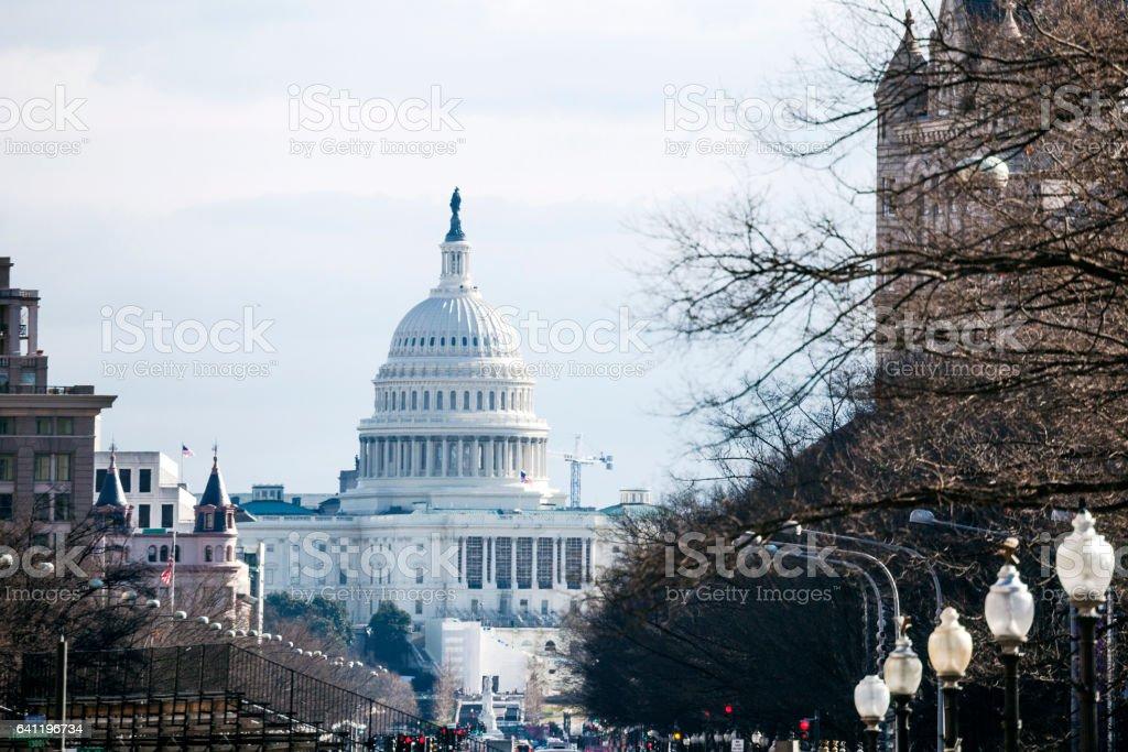 Capitol view, Washington DC. stock photo