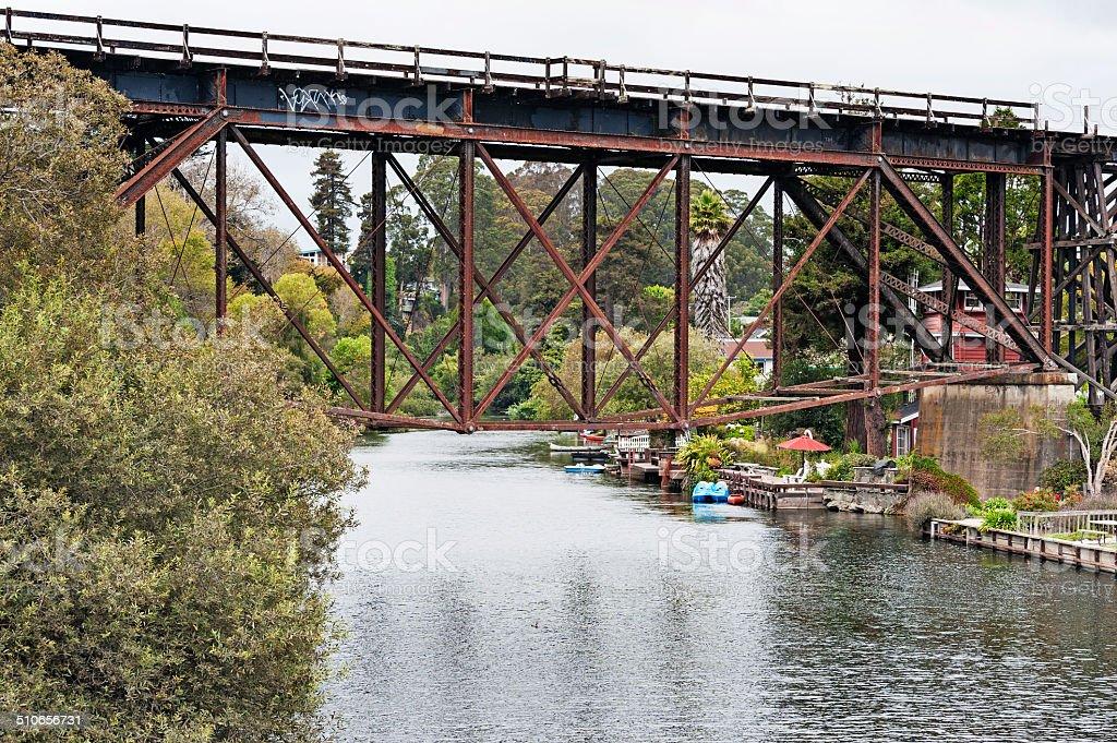 Capitola Railroad Bridge stock photo