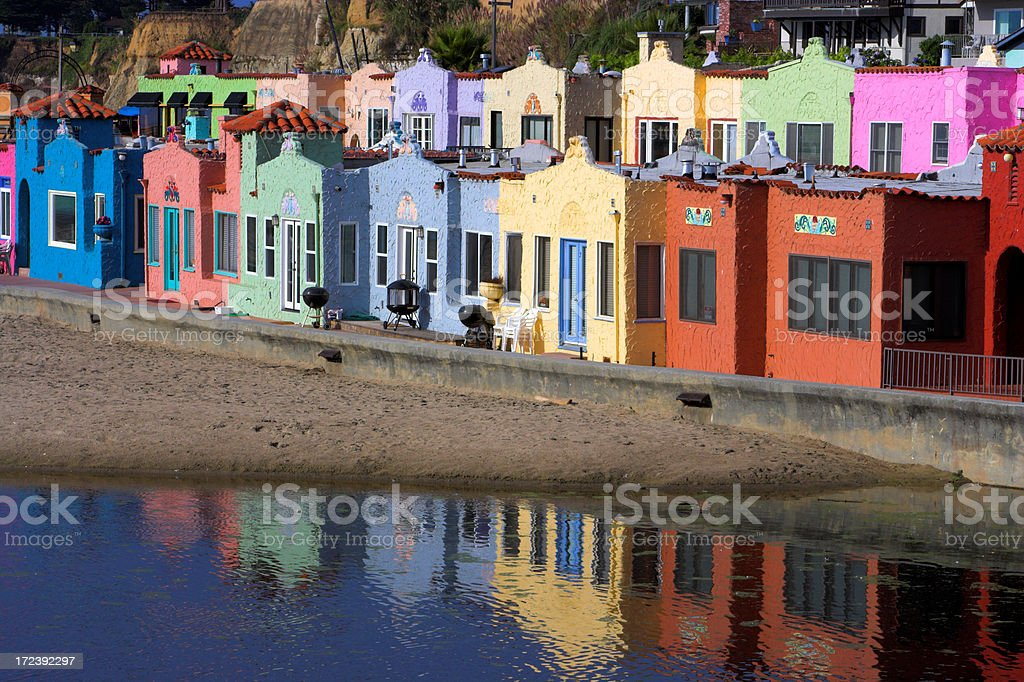 Capitola Seaside Cottages Vacation stock photo