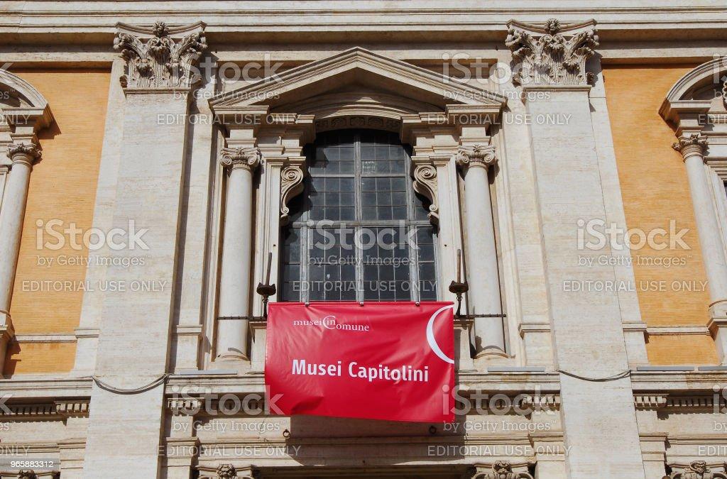 Capitolijnse musea in Rome - Royalty-free Antiek - Toestand Stockfoto