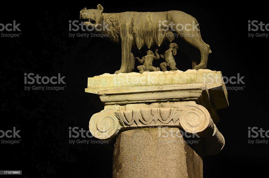 Capitoline she-wolf royalty-free stock photo