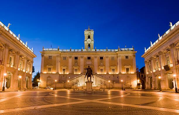 Capitolini Square Rome Italy stock photo