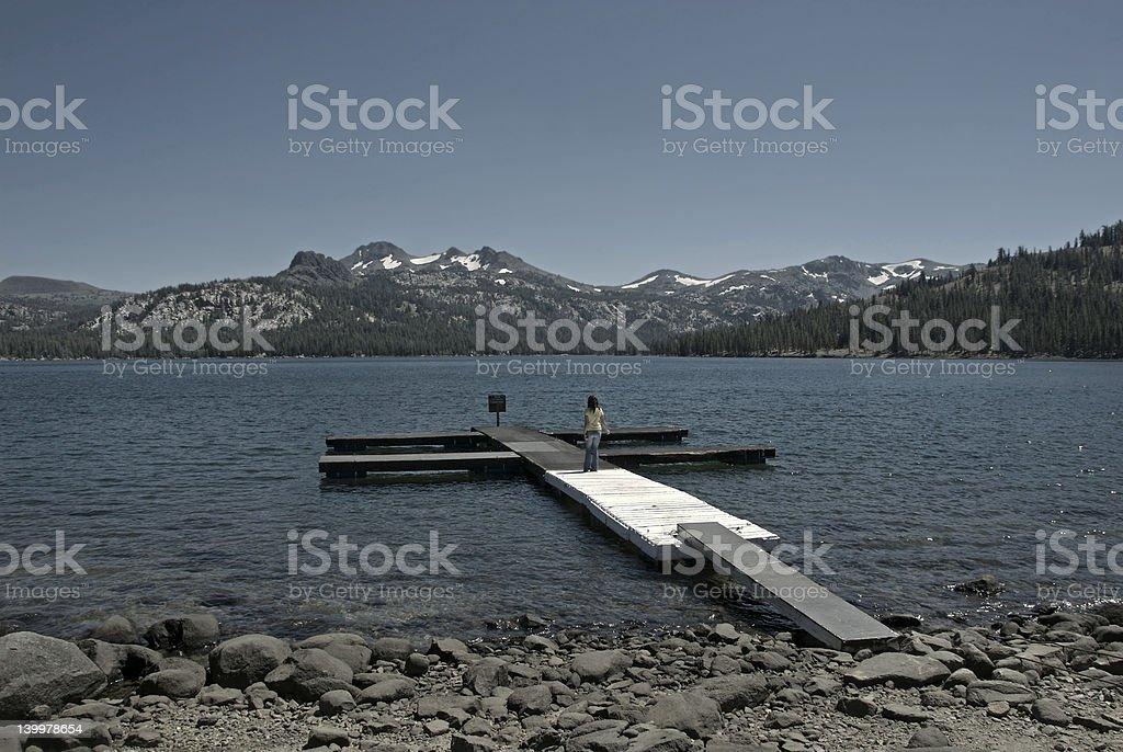 Caples Lake stock photo