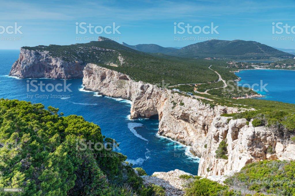 Capo Caccia coastline in Sardinia royalty-free stock photo