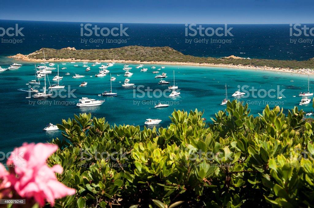 Capo Coda Cavallo beach stock photo