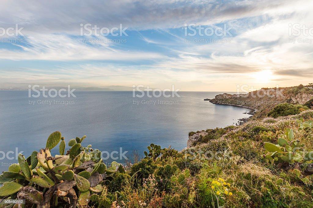 Capo Milazzo, Sicily, Italy stock photo