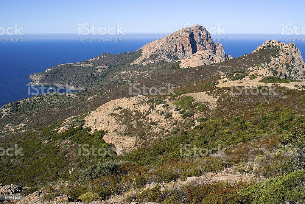 Capo Rosso, Porto, Corsica royalty-free stock photo