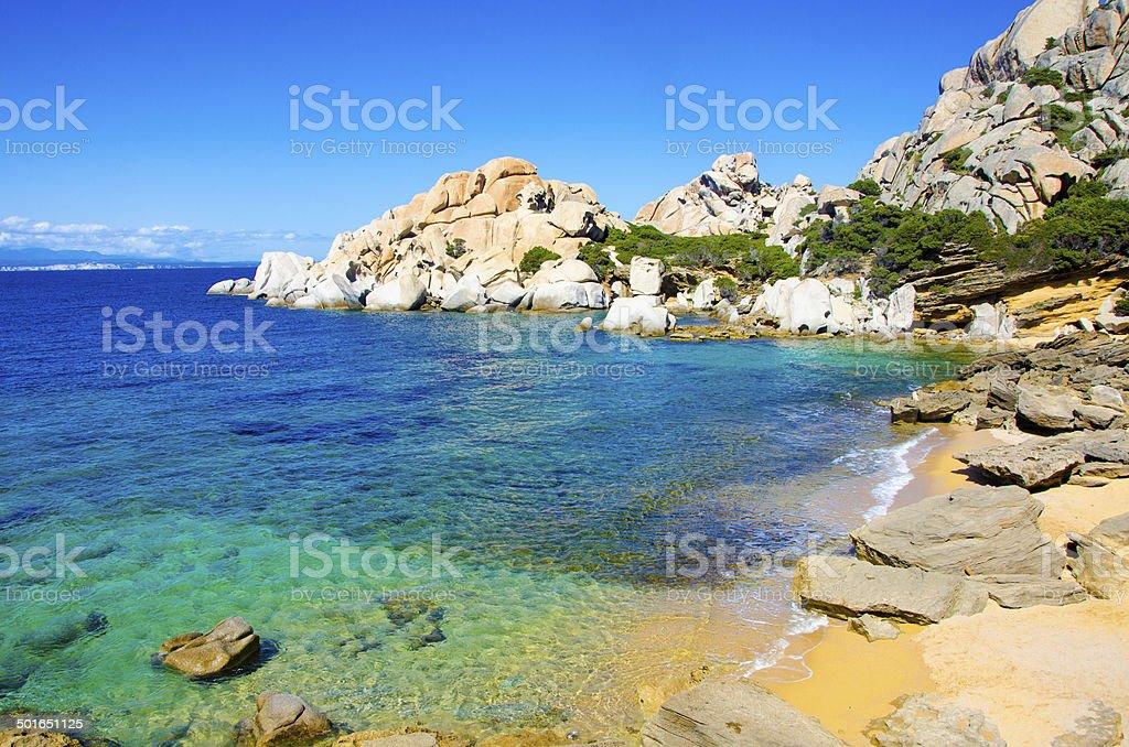 Capo Testa-bellissima costa della Sardegna - foto stock