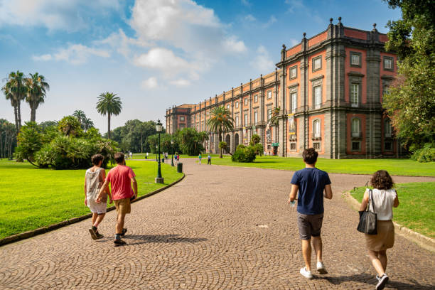 Capodimonte Museum located in Bourbon Palace of Capodimonte ,one of the most important Italian museums , Naples, Italy stock photo