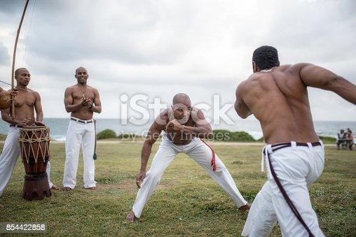 istock capoeira roda at beach of Salvador da Bahia, Brazil 854422858