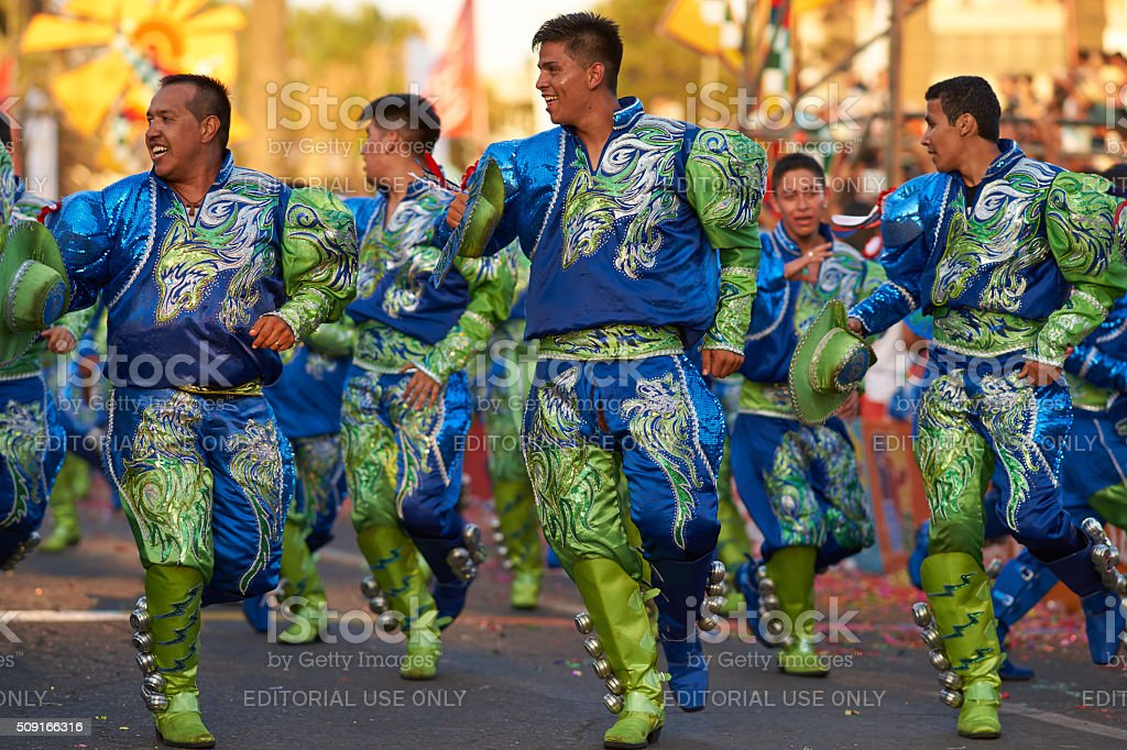 Caporales Dance Group stock photo