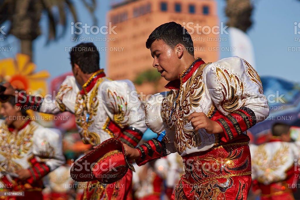 Caporales Dancers stock photo