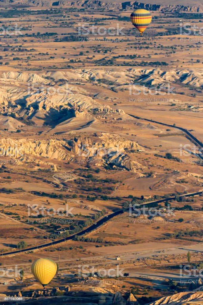 Cappadocia balonlar stok fotoğrafı