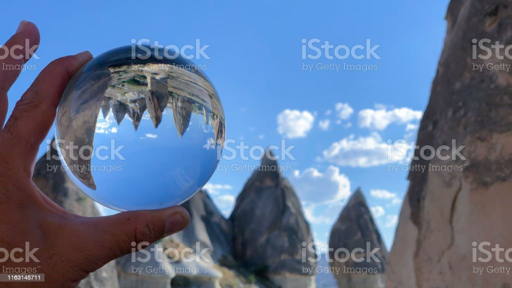cappadocia fairy chimneys and sights of transparent crystal sphere