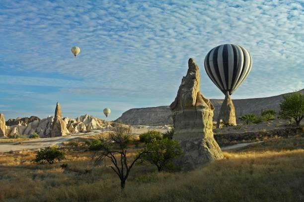 cappadocia - sıcak hava balonları - isı sıcaklık stok fotoğraflar ve resimler