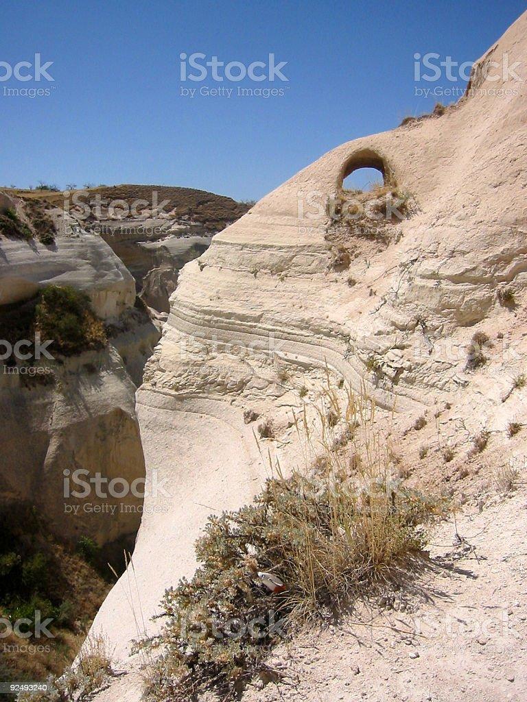 Kappadokien rock arch Türkei Landschaft Lizenzfreies stock-foto