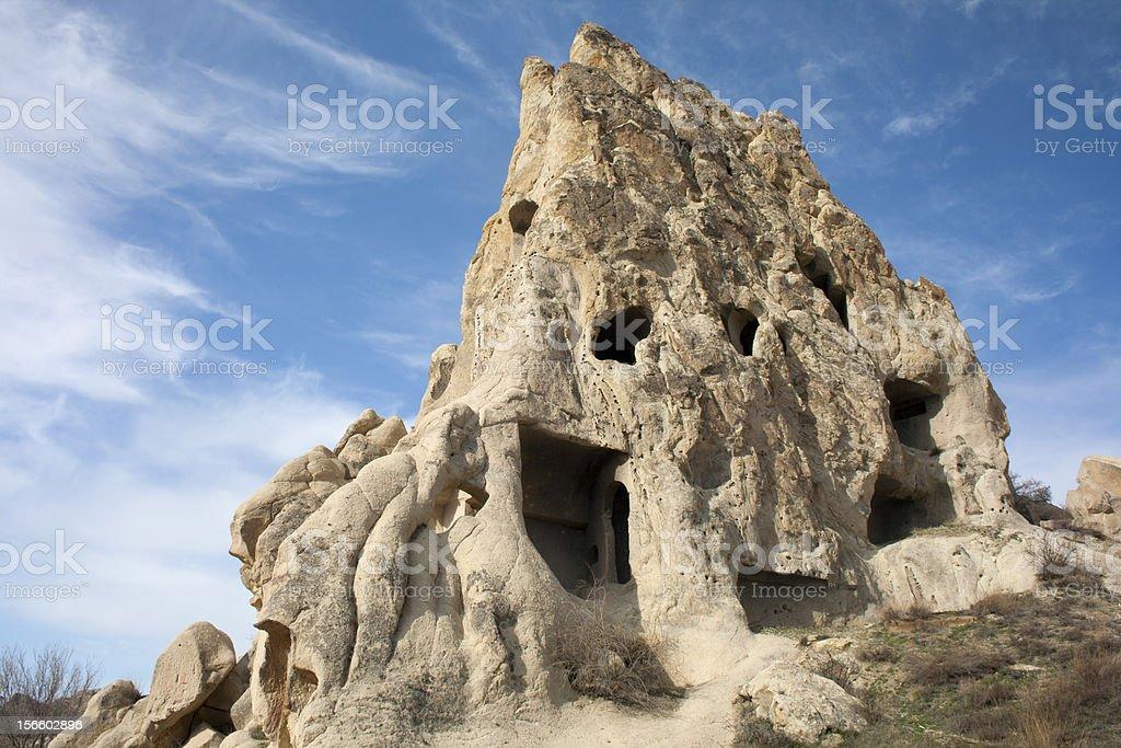 Cappadocia - Rocky Church,Turkey. stock photo