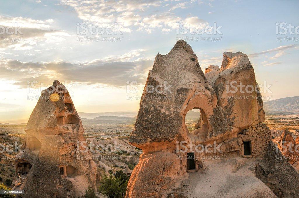 cappadocia sunset stock photo