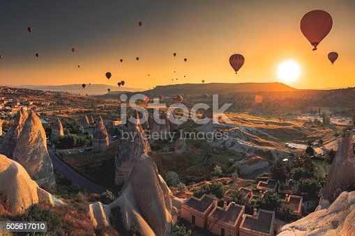 istock Cappadocia valley at sunrise 505617010