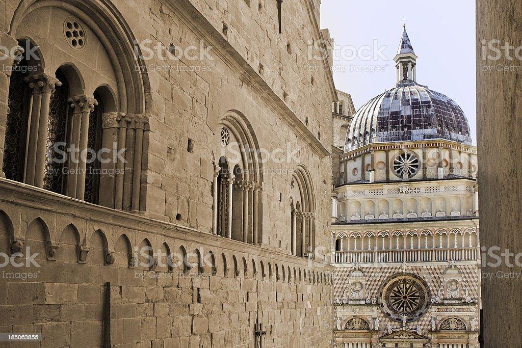 Cappella Colleoni, Bergamo Alta royalty-free stock photo