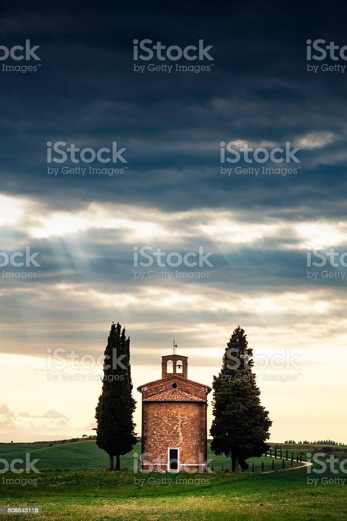 Cappella Della Madonna Di Vitaleta stock photo