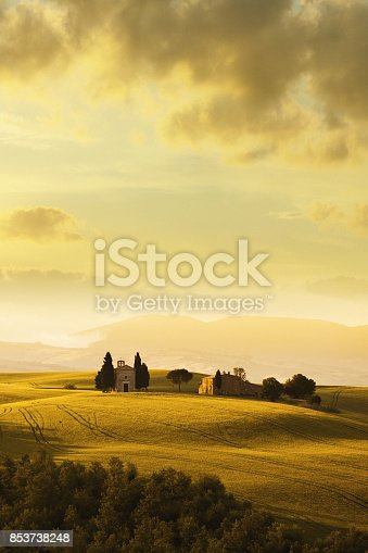 Val d'Orcia scenery in Tuscany, Italy