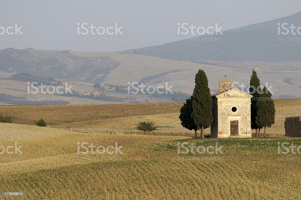 Cappella di Vitaleta royalty-free stock photo