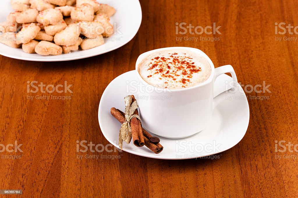 Cappuccino and dessert royalty-free stock photo