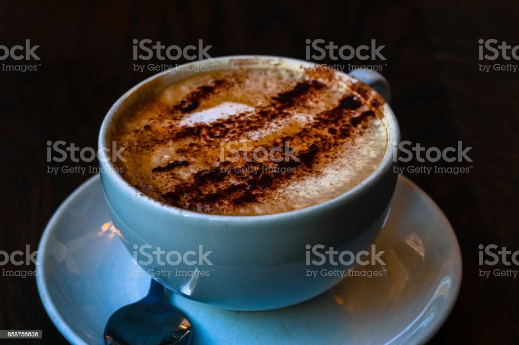 Cappuccino at the cafe – zdjęcie