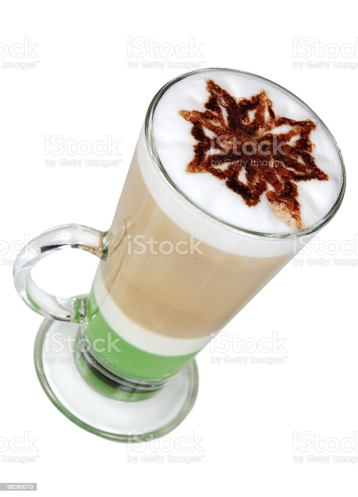 Cappuccino cocktail. royalty-free stock photo