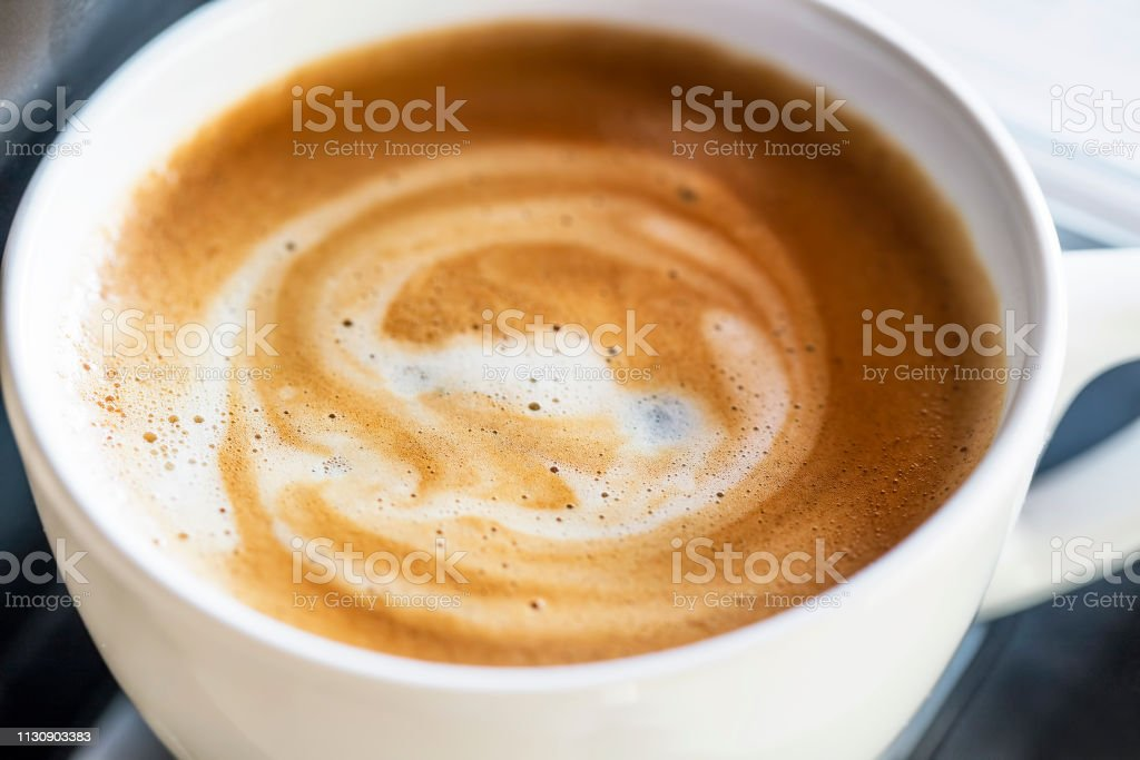 Cappuccino coffee cup or latte with milk frothy foam, cappuccino...