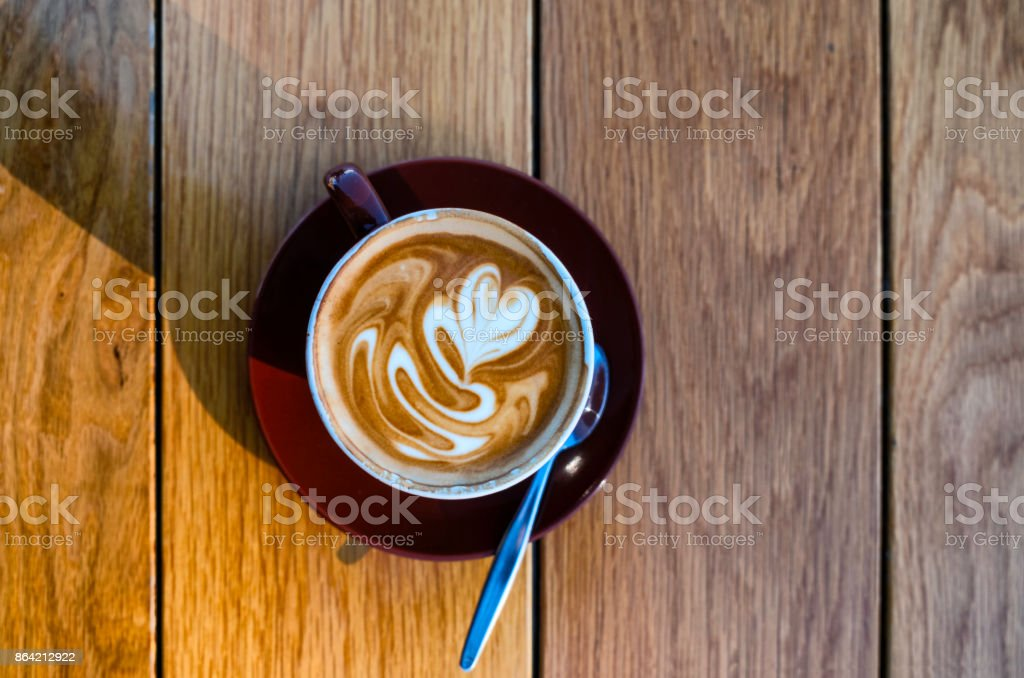 Cappuccino Coffee In Sydney royalty-free stock photo