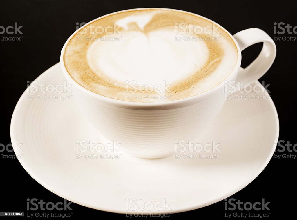 Cappuccino Coffee with Art royalty-free stock photo