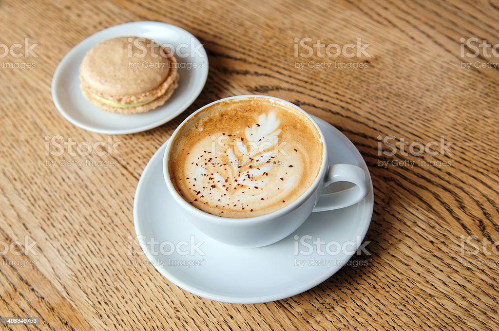 cappuccino cup with cookies royalty-free stock photo