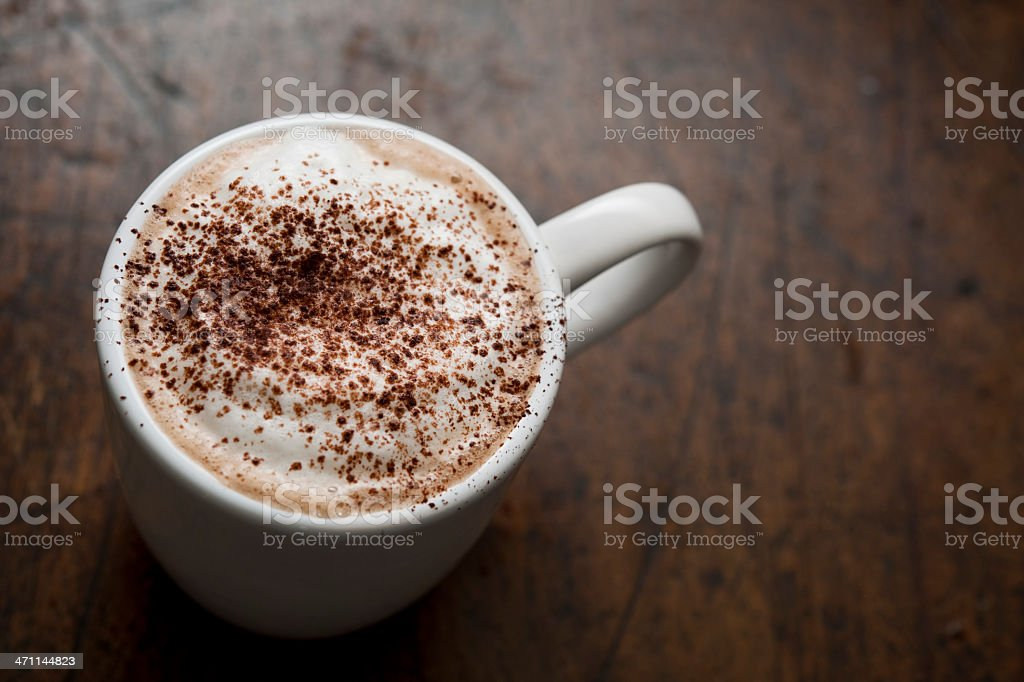 Cappuccino from above royalty-free stock photo