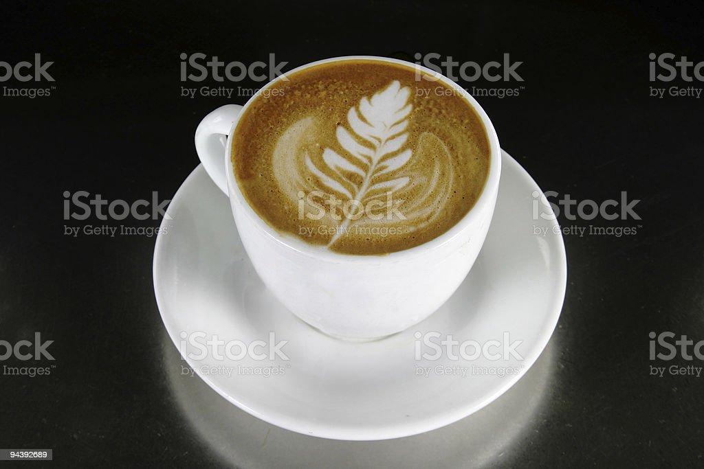 Cappuccino Latte Art royalty-free stock photo