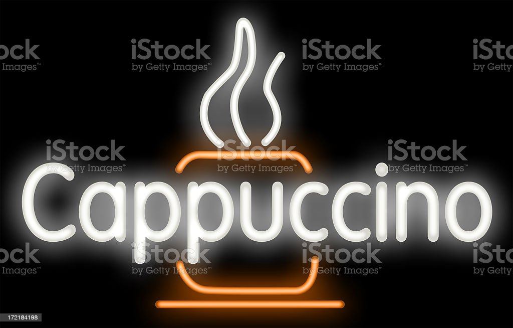 Cappuccino neon royalty-free stock photo